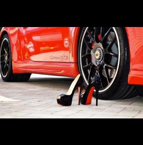 porsche and shoes